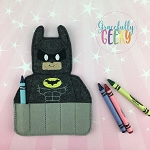 Bat Crayon Holder Embroidery Design - 5x7 Hoop or Larger