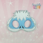 Abominable Monster Mask Embroidery Design - 5x7 Hoop or Larger