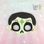 Hector Mask Embroidery Design - 5x7 Hoop or Larger