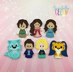 Princess Elana finger puppet set - Embroidery Design