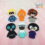 Incredible finger puppet set - Embroidery Design