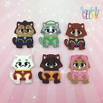 Kittens finger puppet set - Embroidery Design