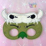 Ludo Mask Embroidery Design - 5x7 Hoop or Larger