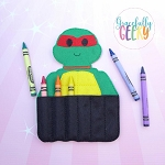 Turtle Crayon Holder Embroidery Design - 5x7 Hoop or Larger