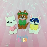 Patrol Pups finger puppet set - Embroidery Design