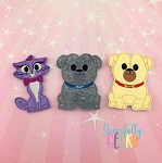 Dog Pals finger puppet set - Embroidery Design
