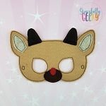 Reindeer Mask Embroidery Design - 5x7 Hoop or Larger