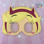 Star Mask Embroidery Design - 5x7 Hoop or Larger