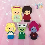 Star finger puppet set - Embroidery Design