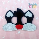 S Cat Mask Embroidery Design - 5x7 Hoop or Larger