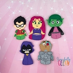 Titains finger puppet set - Embroidery Design