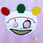 Twist Clown Mask Embroidery Design - 5x7 Hoop or Larger