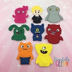 U Dolls finger puppet set - Embroidery Design