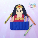 Diana Crayon Holder Embroidery Design - 5x7 Hoop or Larger