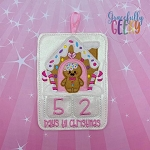 Gingerbread Man Countdown to Christmas Embroidery Design