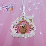 Gingerbread Man Christmas Ornament Embroidery Design - 4x4 Hoop or Larger