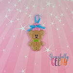 Gingerbread Mouse Boy Ornament Embroidery Design - 4x4 Hoop or Larger