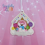 Gingerbread CC Snowman Ornament Embroidery Design - 4x4 Hoop or Larger