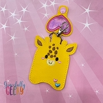 Giraffe Sanitizer Holder Embroidery Design - 5x7 Hoop or Larger