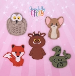 Woodland Friends finger puppet set - Embroidery Design