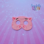 Pig Toy Mask Embroidery Design - 5x7 Hoop or Larger