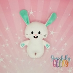 Happy Bunny Stuffed Doll Embroidery Design - 5x7 Hoop or Larger