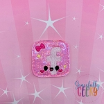 Kawaii Social Media Icon FB Feltie ITH Embroidery Design 4x4 hoop (and larger)