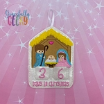 Nativity Countdown to Christmas Embroidery Design