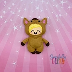 Kawaii Camel Kid Stuffie Embroidery Design - 5x7 Hoop or Larger