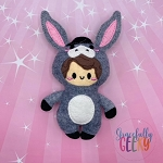 Kawaii Donkey Kid Stuffie Embroidery Design - 5x7 Hoop or Larger