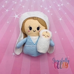Mary & Baby Jesus Stuffie Embroidery Design - 5x7 Hoop or Larger