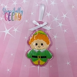CC Green Elf Ornament Embroidery Design - 4x4 Hoop or Larger