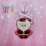 CC Santa Ornament Embroidery Design - 4x4 Hoop or Larger