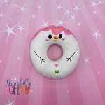 Snowman Donut Stuffie Embroidery Design - 4x4 Hoop or Larger