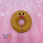 Gingerbread Donut Stuffie Embroidery Design - 4x4 Hoop or Larger