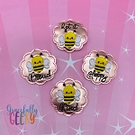 Positive Bee Feltie SET ITH Embroidery Design 4x4 hoop (and larger)