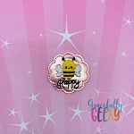 Bee Happy Feltie ITH Embroidery Design 4x4 hoop (and larger)