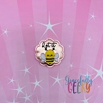 Let it Bee Feltie ITH Embroidery Design 4x4 hoop (and larger)