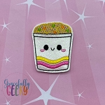 Kawaii Noodles Feltie ITH Embroidery Design 4x4 hoop (and larger)