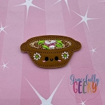Pozolito Feltie ITH Embroidery Design 4x4 hoop (and larger)