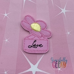 Perfume 3 Love Feltie ITH Embroidery Design 4x4 hoop (and larger)