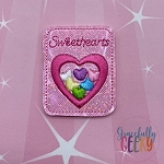 Sweethearts Feltie ITH Embroidery Design 4x4 hoop (and larger)