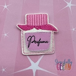 Perfume 1 Feltie ITH Embroidery Design 4x4 hoop (and larger)