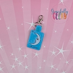 La Luna Snap Keychain ITH Embroidery Design - 5x7 Hoop or Large