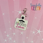 Educated Latina Keychain ITH Embroidery Design - 5x7 Hoop or Larger