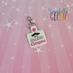 Educated Chingona Snap Keychain ITH Embroidery Design - 5x7 Hoop or Large