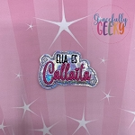 Ella es Callaita Feltie ITH Embroidery Design 4x4 hoop (and larger)