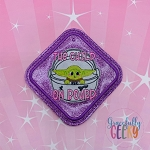 The Child on Board Sign ITH Embroidery Design - 4x4 Hoop or Larger