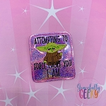 Baby Alien Force Choke Feltie ITH Embroidery Design 4x4 hoop (and larger)