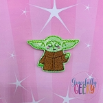 Baby Alien Force (FILL) Feltie ITH Embroidery Design 4x4 hoop (and larger)